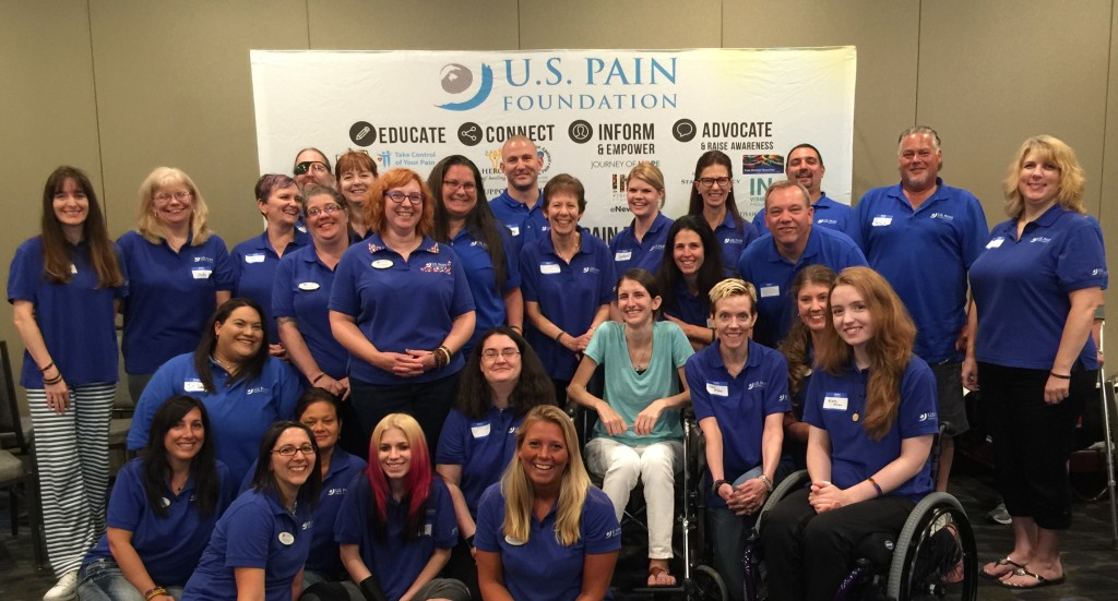 Jenni & the group at the 2015 U.S. Pain Foundation Annual Pain Ambassador Summit